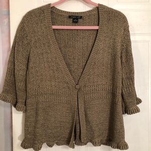 August Silk Cardigan XL